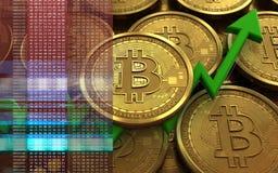 3d bitcoin 库存照片