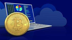 3d bitcoin Stock Foto's