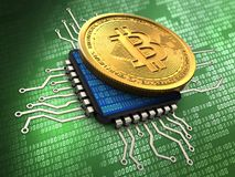 3d bitcoin with cpu Stock Images