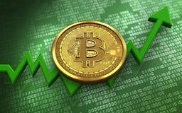 3d bitcoin Royalty Free Stock Photo