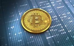 3d bitcoin puste miejsce Zdjęcia Royalty Free