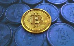 3d bitcoin puste miejsce Fotografia Royalty Free