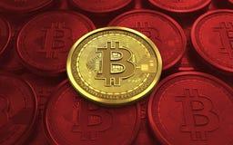 3d bitcoin puste miejsce Zdjęcia Stock