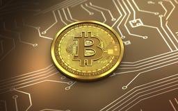 3d bitcoin puste miejsce Obraz Stock