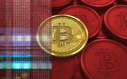 3d bitcoin puste miejsce Fotografia Stock