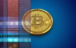 3d bitcoin puste miejsce Obraz Royalty Free