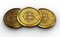3d bitcoin sterta Obrazy Stock