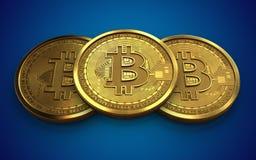 3d bitcoin sterta Zdjęcia Royalty Free