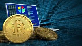3d bitcoins stock illustratie