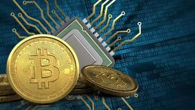 3d bitcoins Fotografia Stock