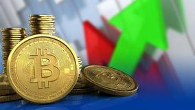 3d bitcoins 皇族释放例证