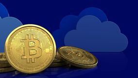 3d bitcoins Stock Foto's