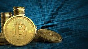 3d bitcoins royalty-vrije illustratie