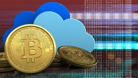 3d bitcoins vector illustratie