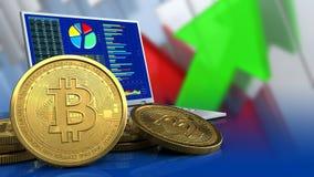 3d bitcoins Royalty Free Stock Photo