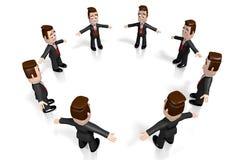 3D biznesmenów pojęcie ilustracji