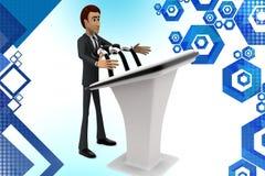 3d biznesowego mężczyzna mowy illstration Zdjęcie Royalty Free