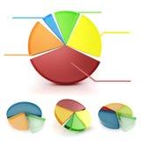 3d biznesowego wykresu kolorowy set Obraz Stock