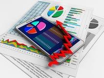3d biznesowi papiery Zdjęcia Stock