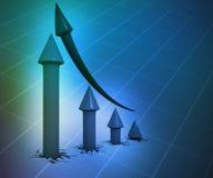 3D Biznesowy wykres Obrazy Stock