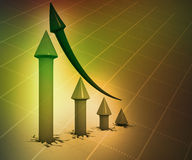 3D Biznesowy wykres Zdjęcie Stock