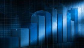 3d biznesowy wzrostowy wykres Obrazy Stock