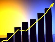 3D biznesowych statystyk wykres royalty ilustracja
