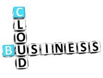 3D biznesu chmury Crossword Obraz Royalty Free