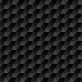3d black abstract background. Geometric seamless. Pattern. Vector illustration Royalty Free Stock Photography