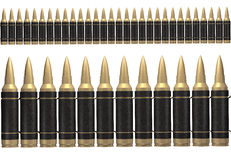 3d black ammunition belt Stock Image