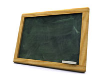 3d black board. 3d-view of a black board with a pine frame Stock Photos