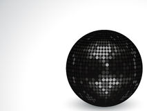 3d black disco ball Stock Photos