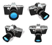 3d black dslr camera range four set Stock Images
