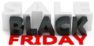 3d black friday big sale. On white background Royalty Free Stock Photography