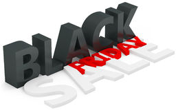 3d black friday big sale. On white background Royalty Free Stock Photos