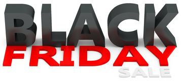 3d black friday big sale. On white background Stock Image