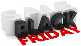 3d black friday big sale. On white background Royalty Free Stock Images