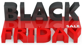 3d black friday big sale. On white background Stock Images