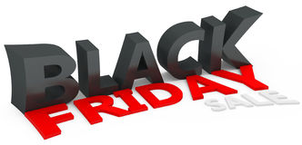 3d black friday big sale Stock Image