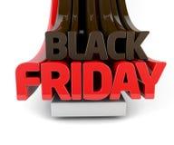 3d Black Friday geeft terug Royalty-vrije Stock Foto's