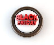 3d Black Friday geeft terug Royalty-vrije Stock Foto