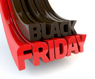3d Black Friday geeft terug Stock Afbeeldingen