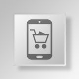 3D Black Friday icon Business Concept. 3D Symbol Gray Square Black Friday icon Business Concept Stock Photography