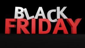 3D Black Friday. 3D label Black Friday on black background