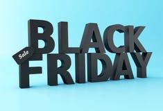 3d Black friday sale concept. 3d Illustration. Black friday sale concept Stock Images