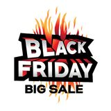 3d black friday sign Stock Image