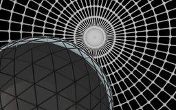 3d black futuristic background. 3d render of black futuristic background Stock Photos
