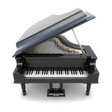 3d Black grand piano Stock Image