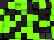 3d black and green cubes background Royalty Free Stock Photography