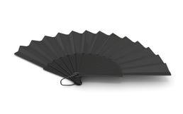 3d black hand fan. Stock Photography